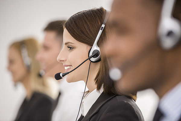 Virtual concierge operators taking calls